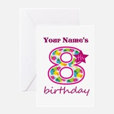 8th Birthday Splat - Personalized Greeting Card