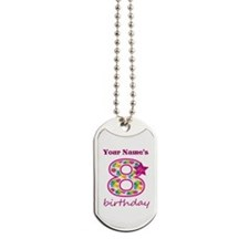 8th Birthday Splat - Personalized Dog Tags