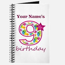 9th Birthday Splat - Personalized Journal