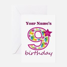 9th Birthday Splat - Personalized Greeting Card
