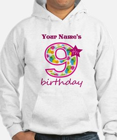 9th Birthday Splat - Personalize Hoodie