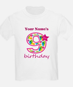 9th Birthday Splat - Personaliz T-Shirt