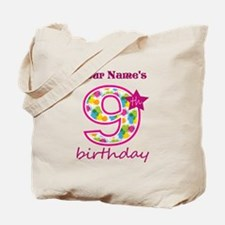 9th Birthday Splat - Personalized Tote Bag