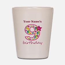 9th Birthday Splat - Personalized Shot Glass