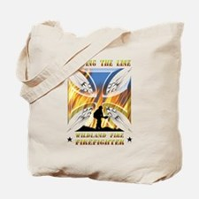 Wildland Firefighter (Holding the Line) Tote Bag
