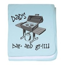 Dad's Bar and Grill baby blanket