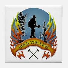 Wildland Firefighter (Hold the Line) Tile Coaster