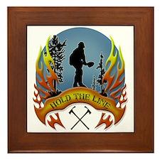 Wildland Firefighter (Hold the Line) Framed Tile