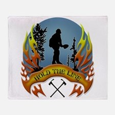 Wildland Firefighter (Hold the Line) Throw Blanket