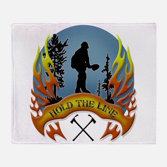 Wildland Firefighter (Hold the Line) Throw Blanket