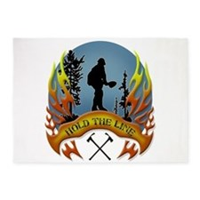 Wildland Firefighter (Hold the Line 5'x7'Area Rug