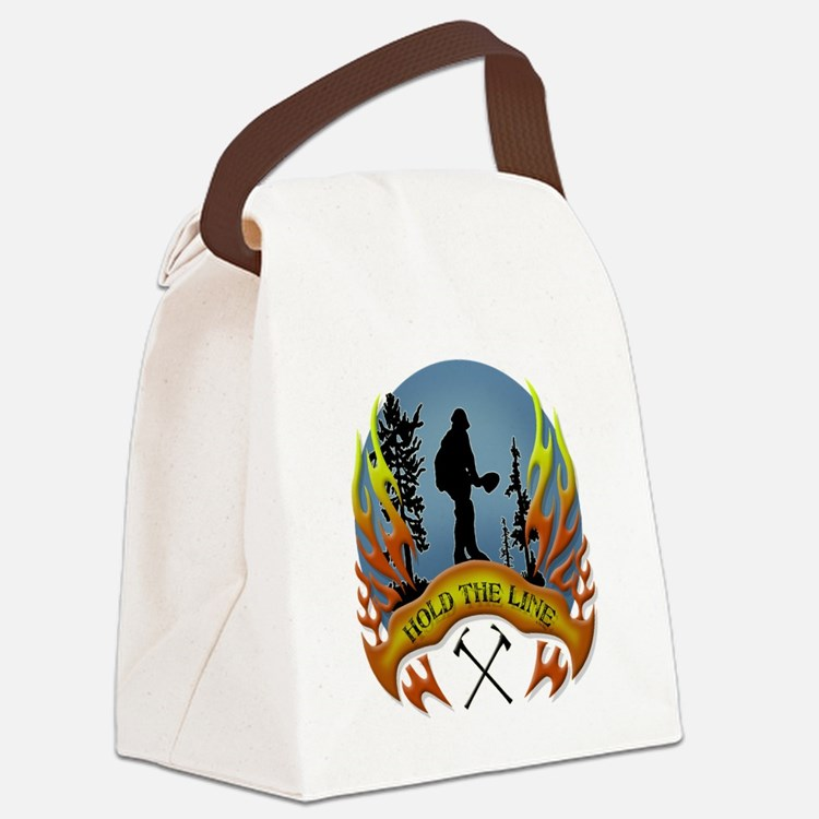 Wildland Firefighter (Hold the Li Canvas Lunch Bag