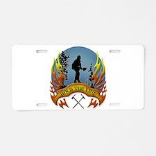 Wildland Firefighter (Hold Aluminum License Plate