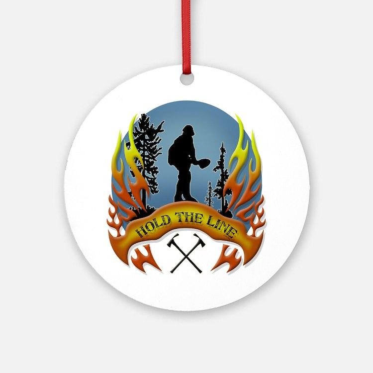 Wildland Firefighter (Hold the Li Ornament (Round)