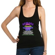 Beware Trucker's Wife Racerback Tank Top