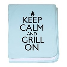 Keep Calm and Grill On baby blanket