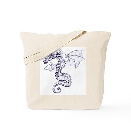 Dragon Illustration Tote Bag