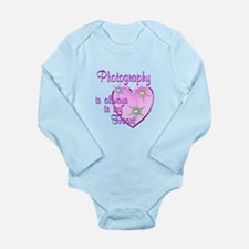 Photography Heart Long Sleeve Infant Bodysuit