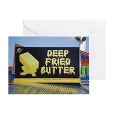 deep fried butter photo Greeting Card