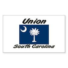 Union South Carolina Rectangle Decal