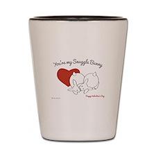 Valentine Snuggle Bunnies Shot Glass