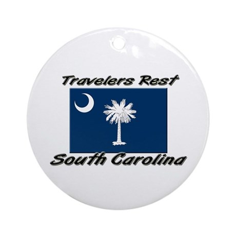 Travelers Rest South Carolina Ornament (Round)