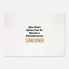 New Year's Resolution Sorcerer 5'x7'Area Rug