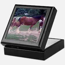 """Clydesdale horses""Keepsake Box"