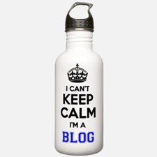 Unique Keep calm and blog on Water Bottle