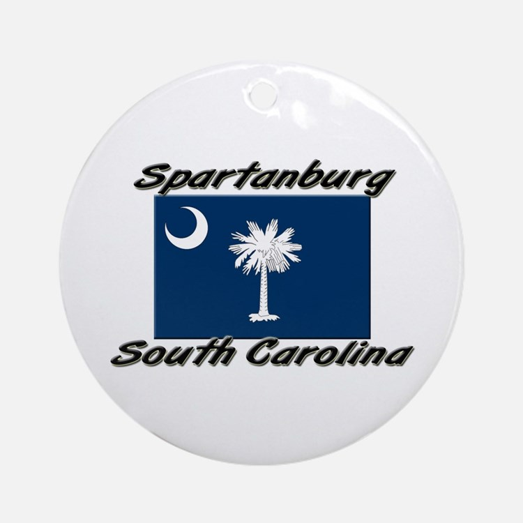 Spartanburg South Carolina Ornament (Round)