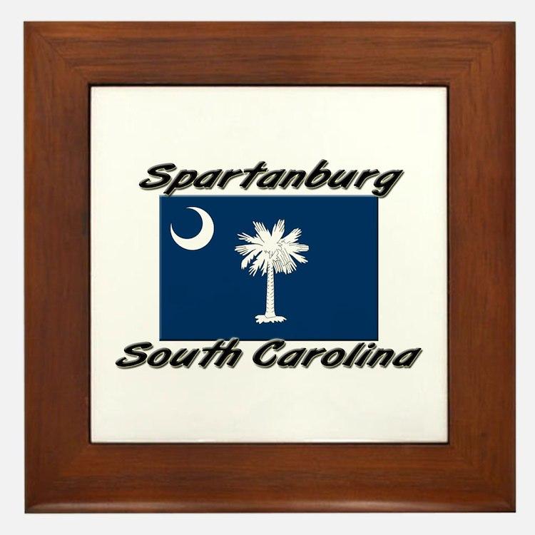 Spartanburg South Carolina Framed Tile
