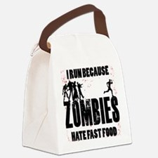 I run Canvas Lunch Bag