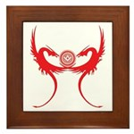 Masonic Red Dragons Framed Tile