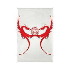 Masonic Red Dragons Rectangle Magnet