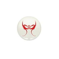 Masonic Red Dragons Mini Button (100 pack)
