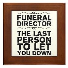 Unique Funeral urns Framed Tile