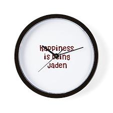 happiness is being Jaden Wall Clock