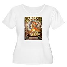 Alphonse Mucha La Plume Zodiac Plus Size T-Shirt