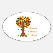 Roots Oval Decal