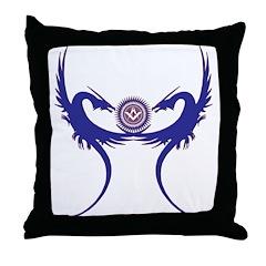 Masonic Blue Dragons Throw Pillow