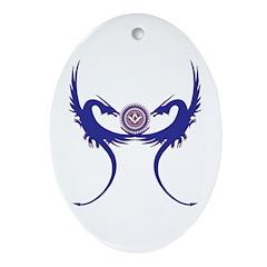Masonic Blue Dragons Oval Ornament
