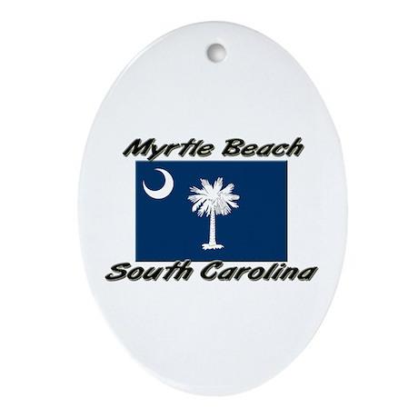 Myrtle Beach South Carolina Oval Ornament