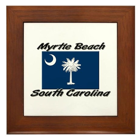 Myrtle Beach South Carolina Framed Tile