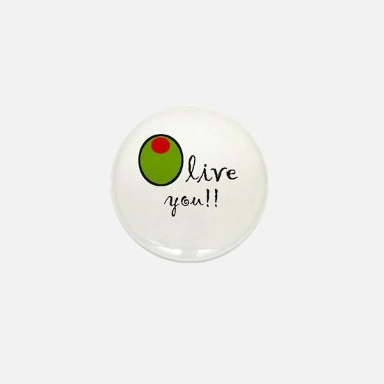 Olive You Mini Button