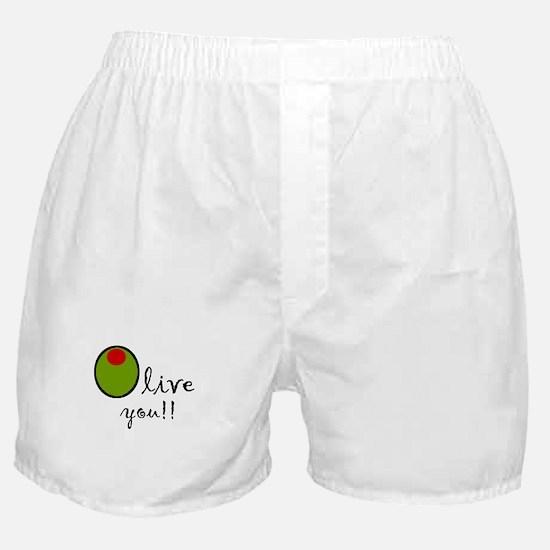 Olive You Boxer Shorts