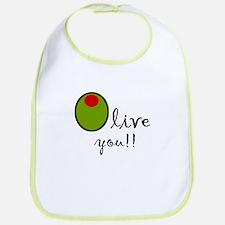 Olive You Bib