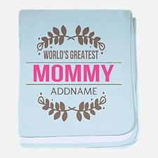 Custom Worlds Greatest Mommy baby blanket