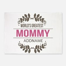 Custom Worlds Greatest Mommy 5'x7'Area Rug
