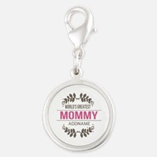 Custom Worlds Greatest Mommy Silver Round Charm