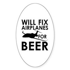 Airplanes Beer Decal
